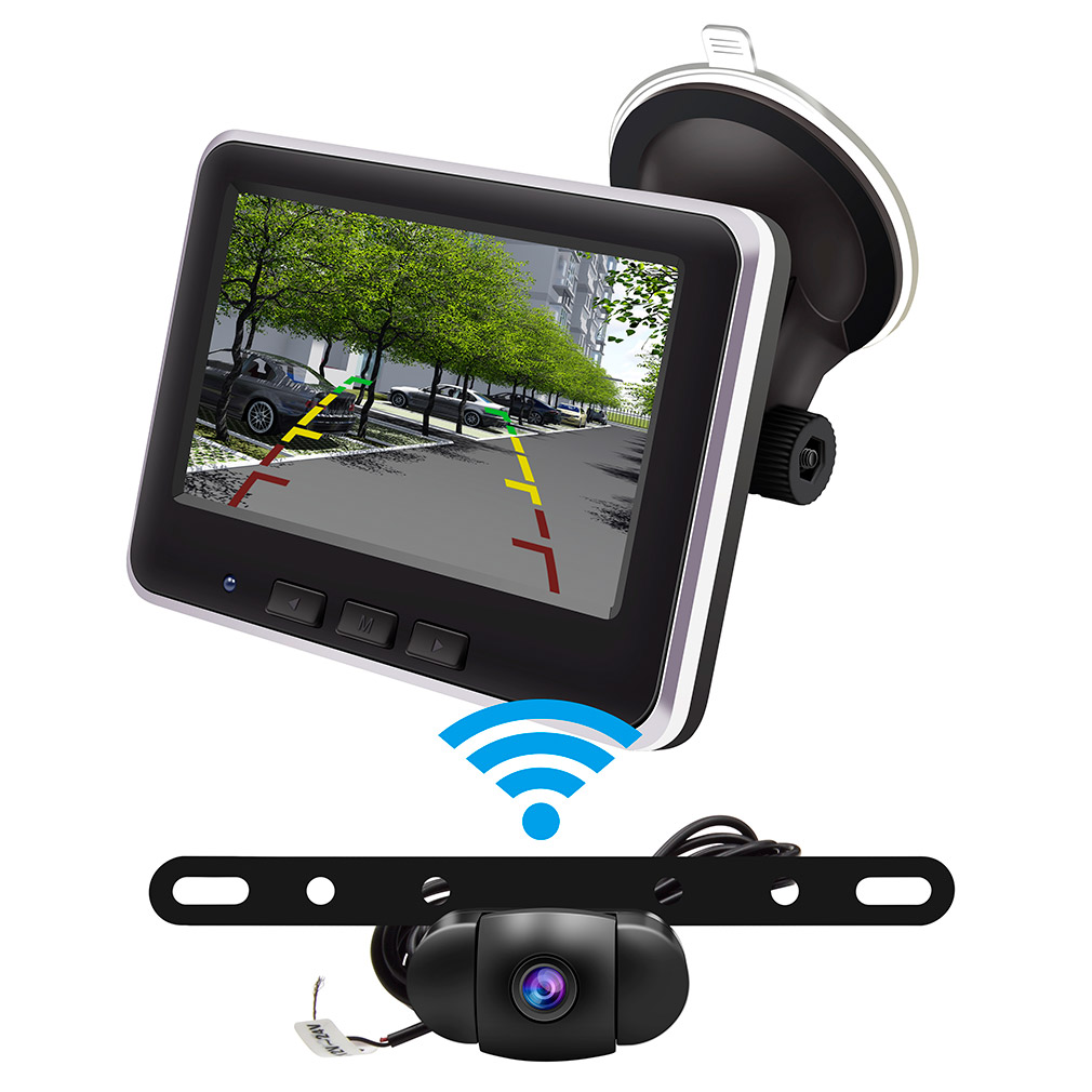 Wireless Backup Camera >> Wireless Backup Camera Monitor Kit Ip68 Waterproof Rear View Camera Wireless With Parking Reverse Safety Distance Scale Lines For